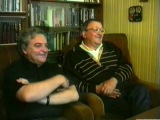 Борис Стругацкий и Александр Житинский беседуют с Самуилом Лурье (1992 г)