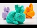 Зайчик из полотенца | Bunny of towels