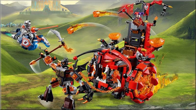LEGO Nexo Knights 70316 Джестро-мобиль Обзор. Лего Нексо Найтс шут Джестро против Нексо Рыцарей Силы