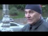 Ватный журналист попробовал взять интервью у мужчины из Донецка Смотрим что из ...