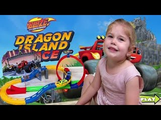 Вспыш и Крушило гонки на Пылающем Гоночном Треке.Blaze and Monster Machines Track Racing.