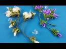 Ribbon flowers simple nice Flores de cintas bonito sencillo Цветы из лент просто и красиво МК
