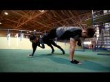 16 упражнений в паре. Фитнес тренировка без дополнительного оборудования.