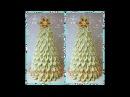 Новорічна ялинка канзаши. Новогодняя елочка своими руками. The Christmas tree kanzashi