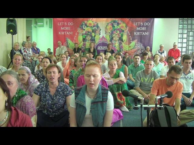 ЕМ Прабхавишну прабху. Джая Рада-Мадхава на Akhanda Nam. Екатеринбург, 27.08.2016.