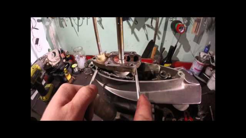 Лодочный мотор Tohatsu 5 л.с Обслуживание и ТО (4 часть) разборка редуктора 1