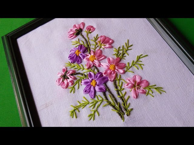 Wall Decorating Ideas | Ribbon Embroidery Flowers by Hand | HandiWorks 58