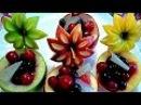 8 ЛАЙФХАКОВ КАК КРАСИВО НАРЕЗАТЬ ЯБЛОКИ ! КАК КРАСИВО ОФОРМИТЬ СТОЛ! Украшения из фруктов