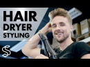 Hair-dry routine step by step ★ Men's hair tutorial ★ Easy blow-dry styling