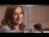 74th Golden Globe Awards - Изабель Юппер / «Она» / Elle (лучшая актриса в драме) - видео вручения статуэтки (английский язык)
