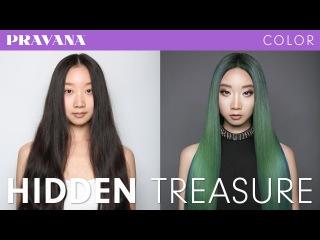 How-To   Hidden Treasure Green Hair Color with PRAVANA VIVIDS Jewels