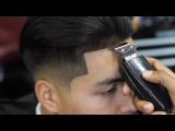 HAIRCUT TUTORIAL: LOW FADE WITH LONG HAIR BLOW DRIED BACK