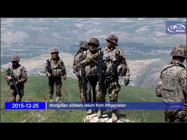 Mongolian soldiers return from Afhganistan