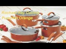 12 piece, Rachael Ray Cucina Hard Porcelain Enamel Nonstick best cookware sets, Pumpkin Orange color