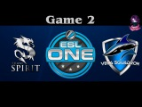 EPIC Team Spirit vs Vega Game 2 | ESL ONE Frankfurt (11.04.2016) Dota 2