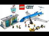 Лего Сити 60104 Аэропорт Пассажирский Терминал и Самолёт. Обзор Lego City Airport Passenger Terminal