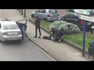 Появилось видео задержания участника брюссельских терактов (08.04.2016)