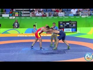 РИО-2016 125 кг 1_8 финала Ален Засеев (Украина) - Гено Петриашвили (Грузия)