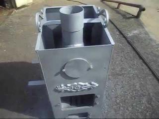 Стальная банная печь