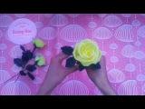 2 cách làm hoa hồng bằng giấy nhún đơn giản mà đẹp