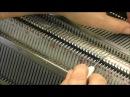 Вывязывание горловины на двух фонтурах Частичное вязание на двух фонтурах