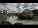 Горный Алтай 2016. Чемал. ГЭС. Козья тропа. Патмос. Подвесной мост. Аварийный мост