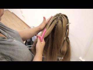 Причёска из косы( рыбий хвост ). Демонстрация урока дистанционного обучения.