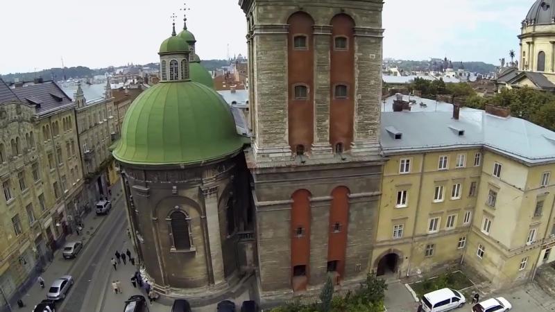 Аерофотозйомка Лева / Aerial Photography Lions / Місто Львів: Україна / City Lviv: Ukraine [Full 1080p HD]