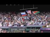 Флаг США упал на Уимблдоне под гимн России!