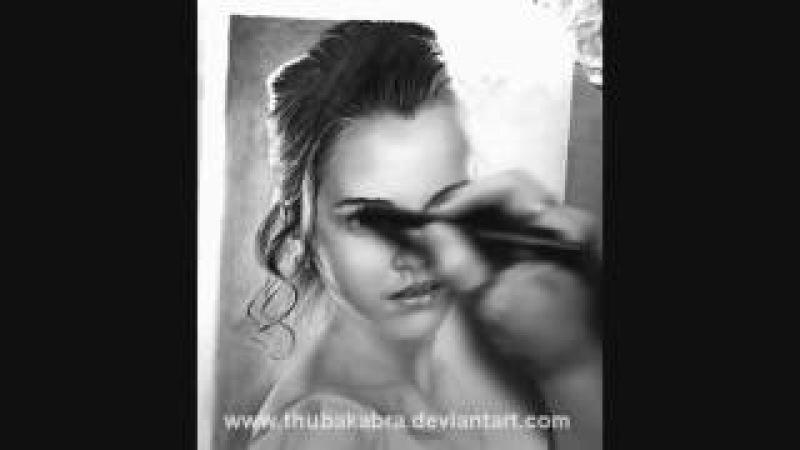 How I Drew Emma Watson portrait - realistic pencil drawing