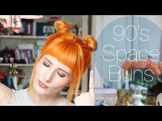 90's SPACE BUNS FOR SHORT HAIR