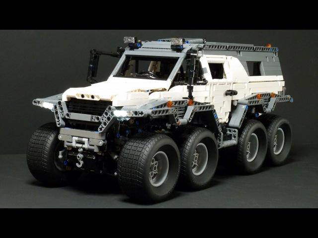LEGO Technic Avtoros Shaman 8x8 with SBrick