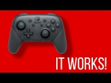 CONFIRMED Nintendo Switch Pro Controller on PC (Bluetooth, NO USB)
