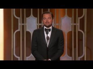 Леонардо ДиКаприо на церемонии Golden Globes 2017