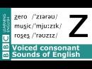 Say zero, music and roses. Voiced Consonants. Pronunciation Tips. [z]