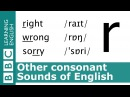 Say right, wrong and sorry. Other Consonants. Pronunciation Tips. [r]