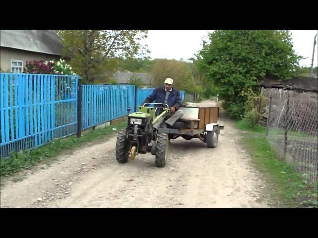 ЗУБР Q79E Перевозка песка, огромная помощь от рулевой тяги, и опорное колесо!