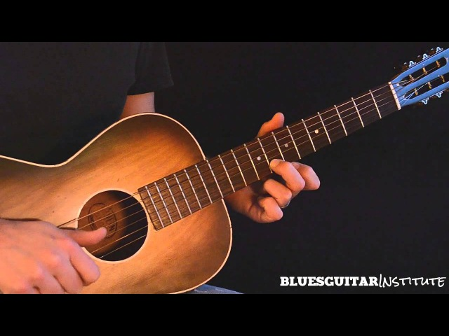 Simple Acoustic Blues Guitar Lick in E - Train Whistle Lick