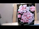 Speed drawing: peonies | пионы | масло, холст | oil paint, canvas