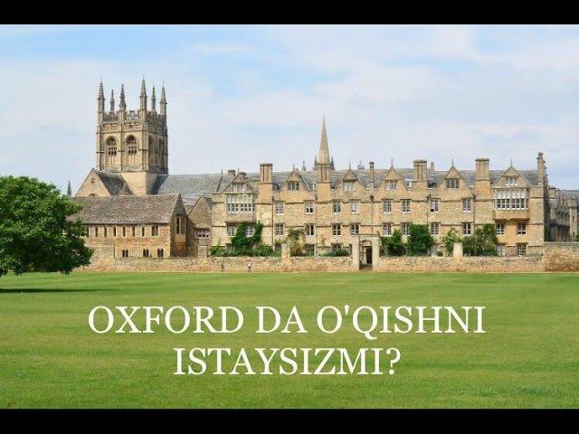 OXFORDDA O'QISH UCHUN YORDAMCHI MA'LUMOTLAR