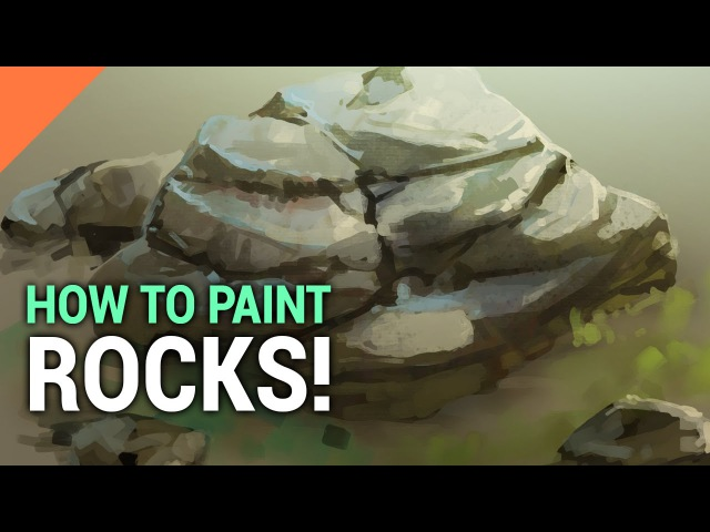 How To Paint ROCKS In Photoshop