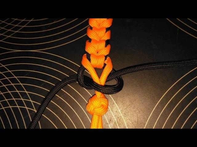 Как плести браслет Шип Синнету - Цепь из паракорда, схема плетения, браслет выживания.