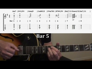 Pt.2 Jazz Guitar Comping Chords Specifically For Autumn Leaves Changes In Em