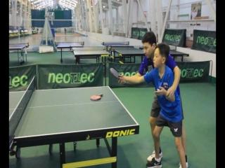 Уроки настольного тенниса. Подача для начинающих.