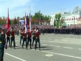 прохождение Самарского кадетского корпуса на параде 9-го мая  21017 года.