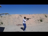 Стрельба из пистолета-пулемета MP-5 c глушителем