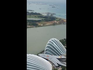 Вид с башен Marina bay Sky park