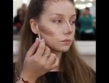 Эффектный макияж с красными губами