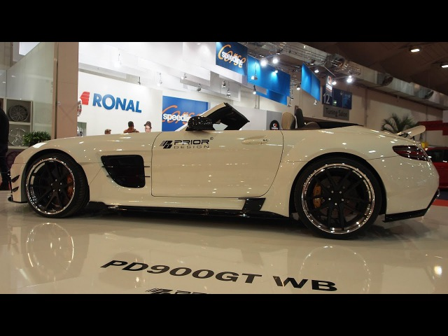 Mercedes Benz SLS AMG Tuning by Prior Design PD900GT Roadster Widebody Aerodynamik Kit