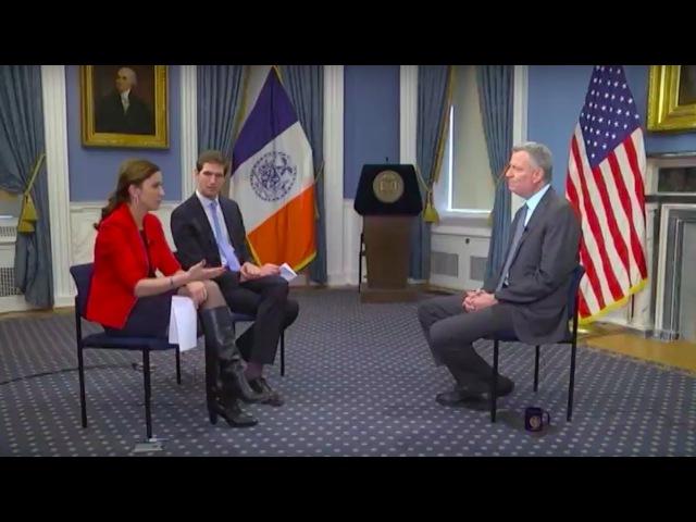 Мэр Нью-Йорка Билл де Блазио: о нелегалах, антисемитизме и Путине. Эксклюзив RTVi